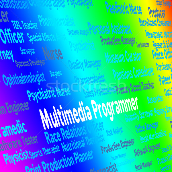 Multimedia programador software ingeniero carrera Foto stock © stuartmiles