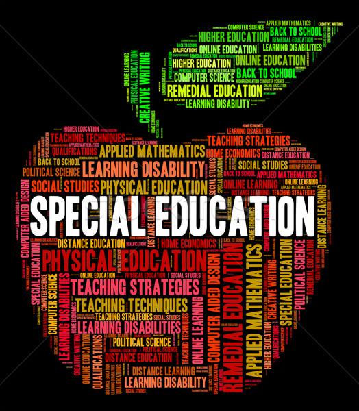 Special Education Shows Slow Learning And Develop Stock photo © stuartmiles