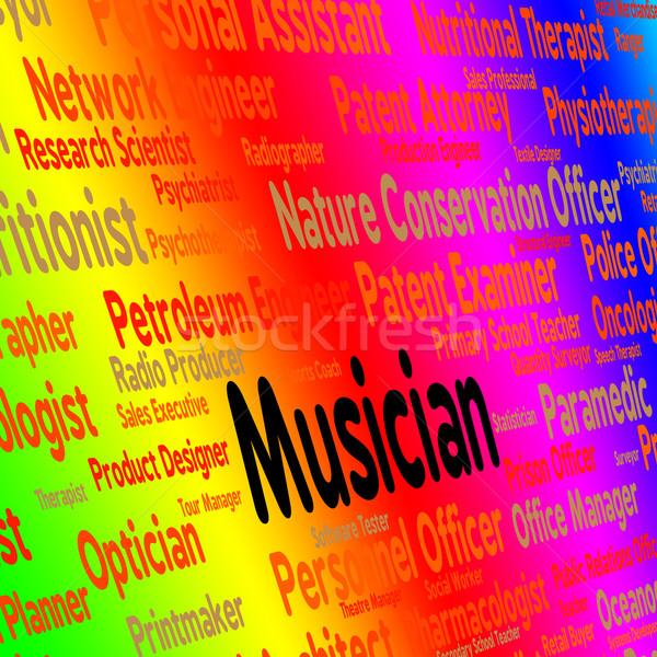 Zenész állás hang útvonal audio mutat Stock fotó © stuartmiles