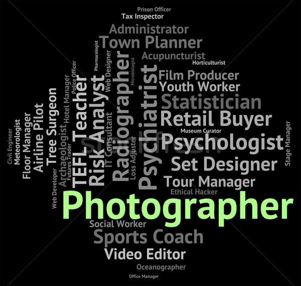 カメラマン 仕事 パパラッチ 雇用 作業 ストックフォト © stuartmiles