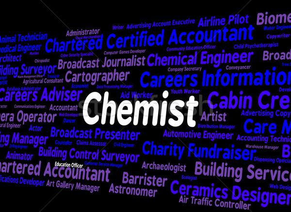 химик работу работу занятость лаборатория техник Сток-фото © stuartmiles