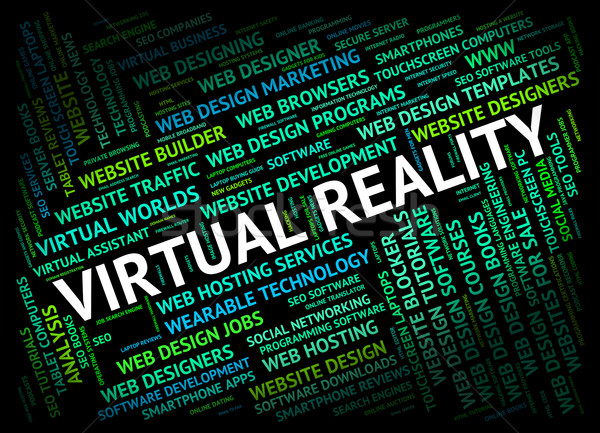 Virtual Reality Shows Out Sourcing And Contract Stock photo © stuartmiles