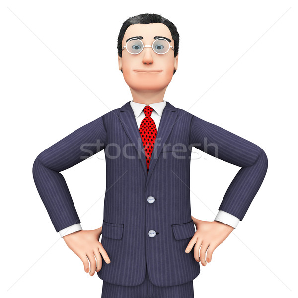 Confident Businessman Means Honored Executive And Corporation Stock photo © stuartmiles