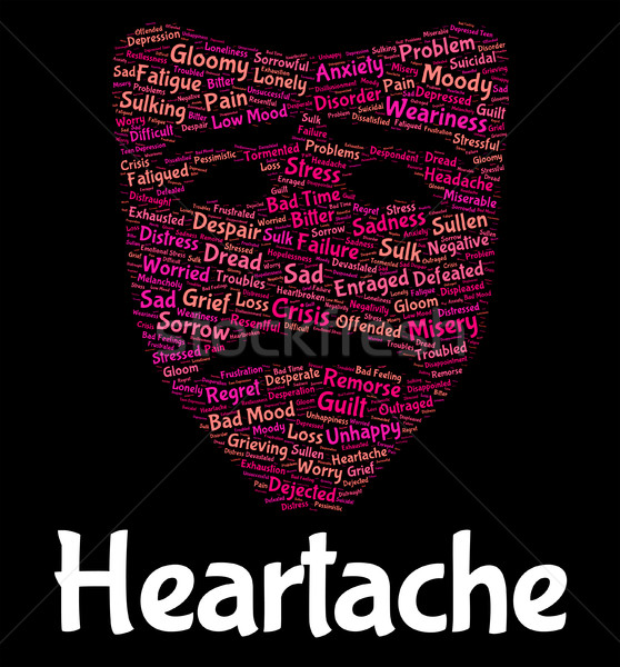 Heartache Word Indicates Grief Torment And Wordclouds Stock photo © stuartmiles