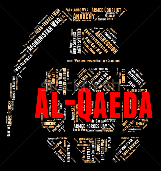 Al-Qaeda Word Indicates Freedom Fighter And Al-Qaida Stock photo © stuartmiles