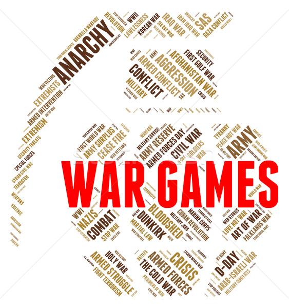 War Games Shows Entertainment Playing And Bloodshed Stock photo © stuartmiles