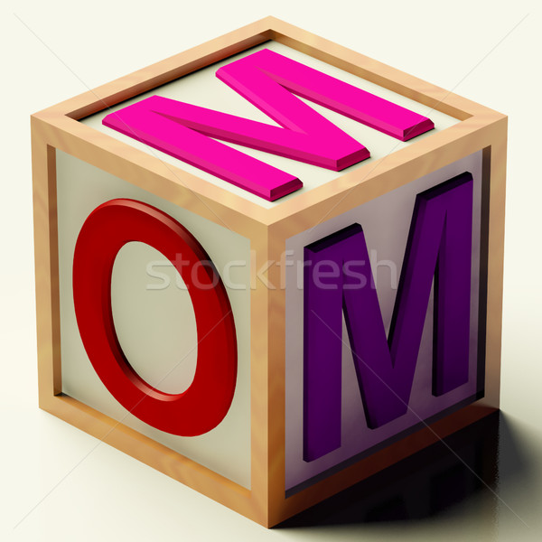 Kids Block Spelling Mom As Symbol for Motherhood And Parenting Stock photo © stuartmiles