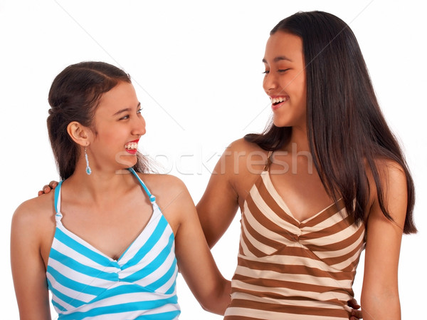 Two Female Friends Laughing Stock photo © stuartmiles