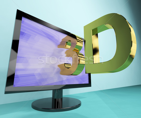 Three Dimension Television Or 3D HD TVs Stock photo © stuartmiles