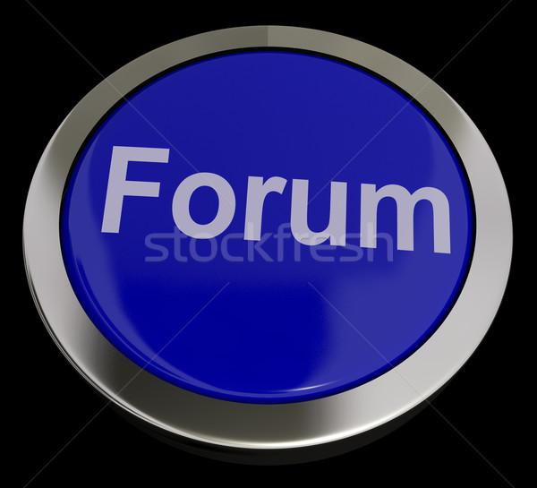 Forum bouton médias sociaux communauté informations Photo stock © stuartmiles
