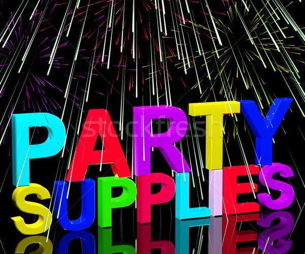Parti sözler doğum günü yıldönümü Stok fotoğraf © stuartmiles