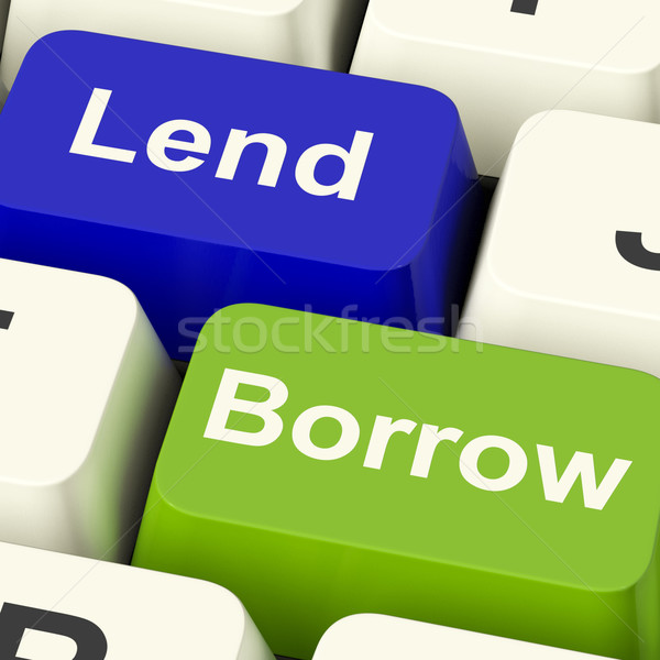 Lend And Borrow Keys Showing Borrowing Or Lending On The Interne Stock photo © stuartmiles