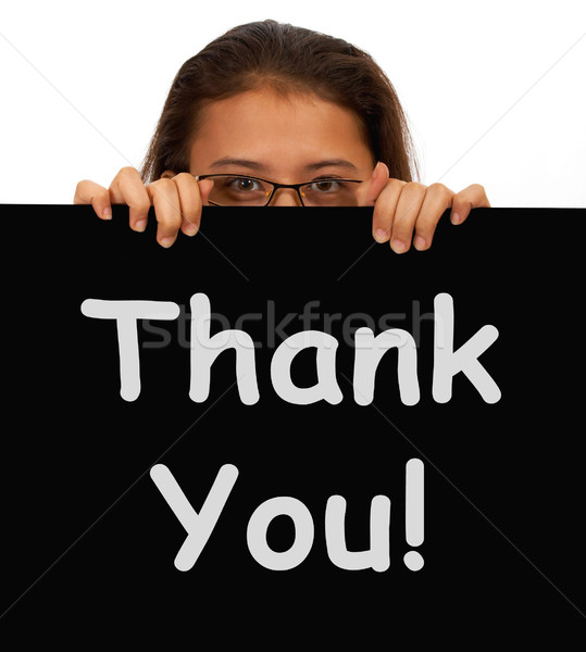 Thank You Message To Show Gratitude Stock photo © stuartmiles