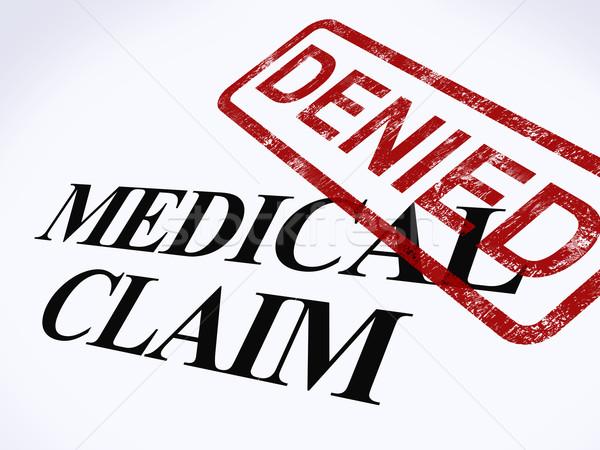 Medische beweren stempel mislukte tonen Stockfoto © stuartmiles