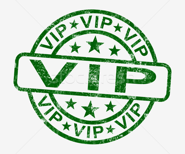 VIP Stamp Showing Celebrity Or Millionaire Stock photo © stuartmiles