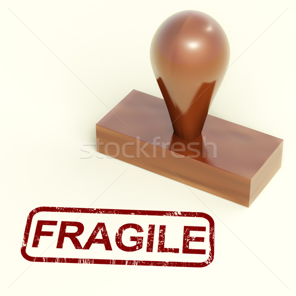 Fragile Stamp Showing Breakable Products For Delivery Stock photo © stuartmiles