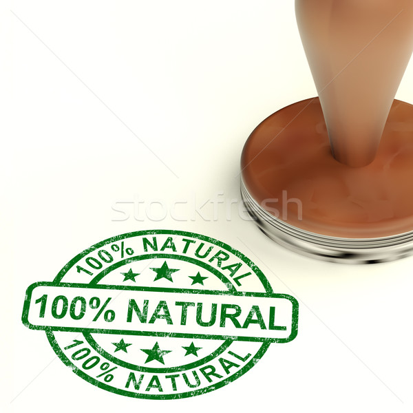 One Hundred Percent Natural Stamp Shows Pure Genuine Product Stock photo © stuartmiles