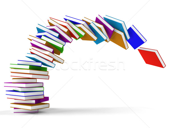 Stack Of Falling Books Representing Learning And Education Stock photo © stuartmiles