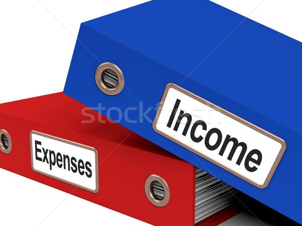 Ingresos gastos archivos mostrar teneduría de libros Foto stock © stuartmiles