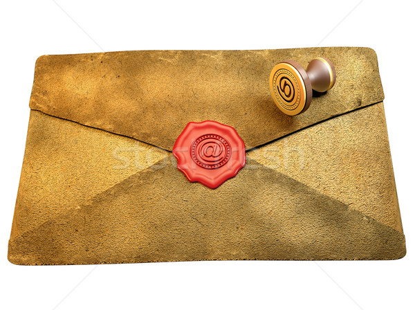 Sealed Envelope Shows Private Message Mailed Stock photo © stuartmiles