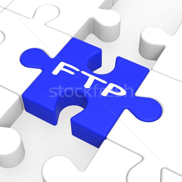 Ftp puzzle akták átutalás internet Stock fotó © stuartmiles