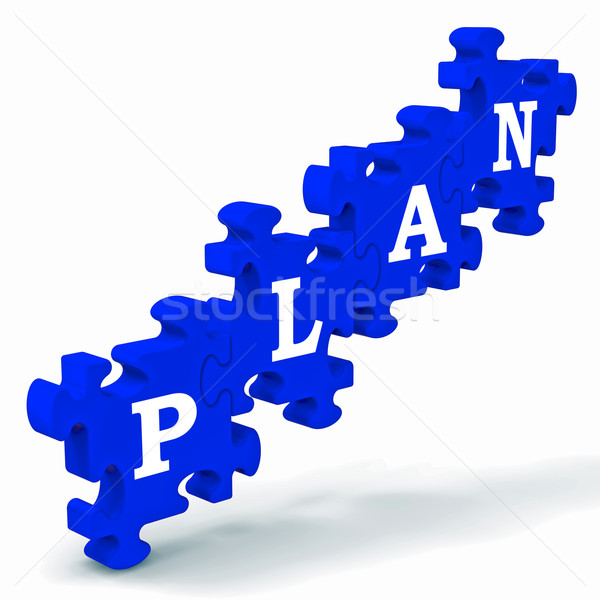 Сток-фото: плана · головоломки · бизнеса · планирования