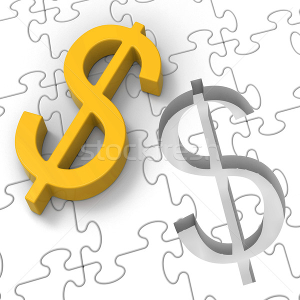 Dollar Puzzle Showing Revenues And Investments Stock photo © stuartmiles