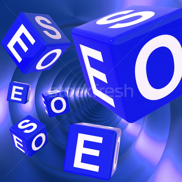 SEO Dice Background Shows Optimized Search Engine  Stock photo © stuartmiles