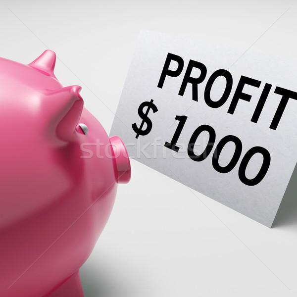 Beneficio dólares ingresos ganancias ahorros Foto stock © stuartmiles