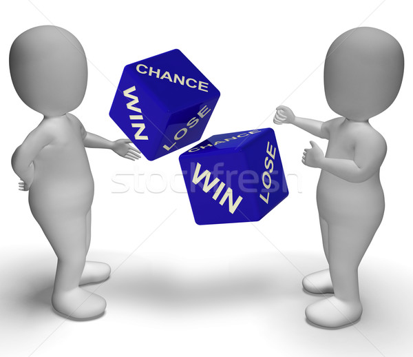 Win Lose Dice Showing Good Or Bad Luck Stock photo © stuartmiles