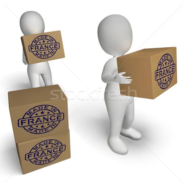 Francja pieczęć francuski produktu produkować produktów Zdjęcia stock © stuartmiles