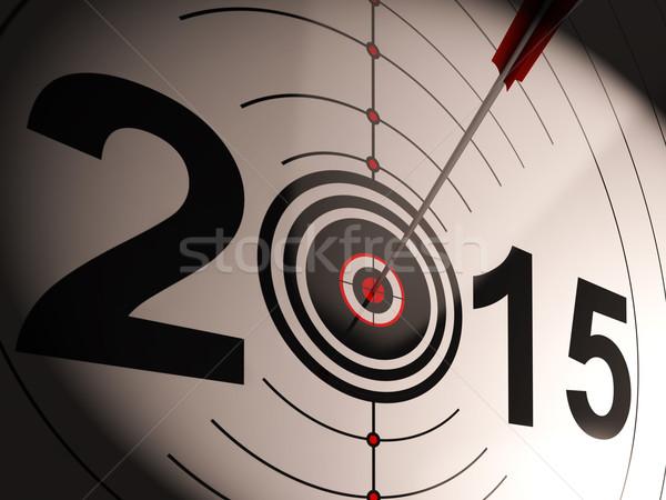 2015 projeksiyon hedef başarılı gelecek Stok fotoğraf © stuartmiles