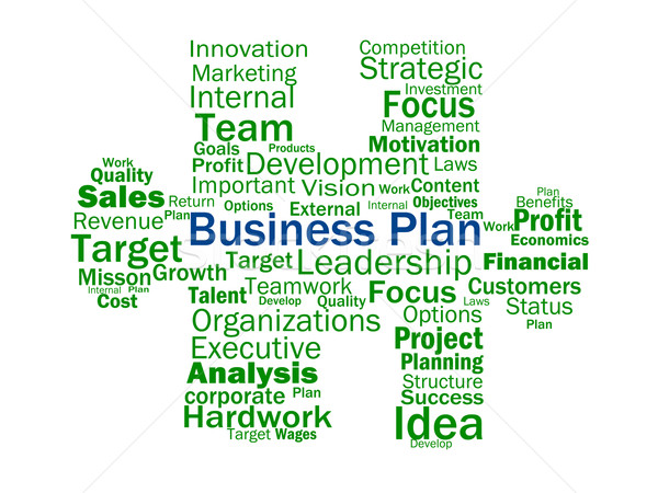 Business Plan Shows Aims Strategy Plans Or Planning Stock photo © stuartmiles