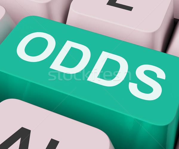 Kansen sleutel online kans gokken tonen Stockfoto © stuartmiles