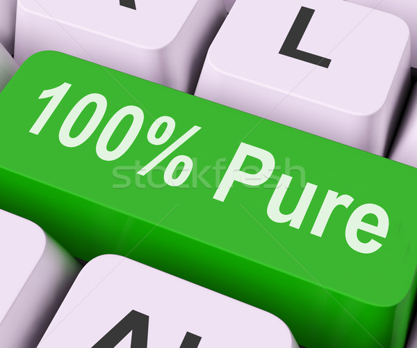 Cento cento chiave tastiera significato Foto d'archivio © stuartmiles