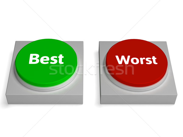 Best Worst Buttons Shows Champion Or Worse Stock photo © stuartmiles