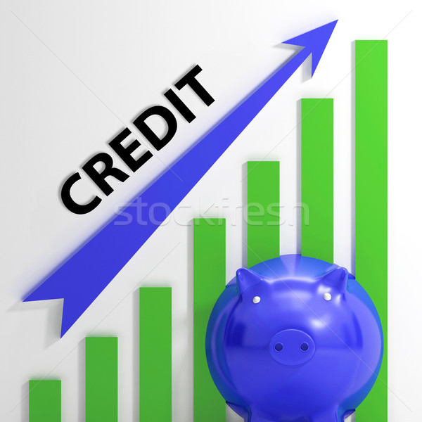 Credit Graph Means Financing Lending And Repayments Stock photo © stuartmiles
