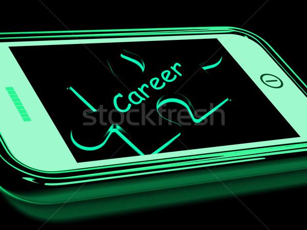 Kariery smartphone zawód zawód pracy Zdjęcia stock © stuartmiles
