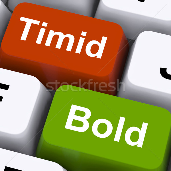 Timid Bold Keys Show Shy Or Outspoken Stock photo © stuartmiles
