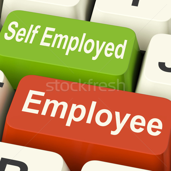 Employee Self Employed Keys Means Choose Career Job Choice Stock photo © stuartmiles