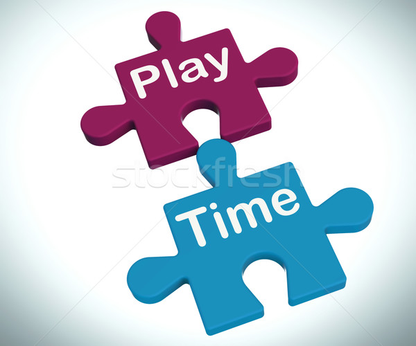 Play Time Puzzle Means Fun And Leisure For Children Stock photo © stuartmiles