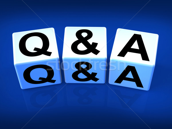 Q&A Blocks Refer to Questions and Answers Stock photo © stuartmiles