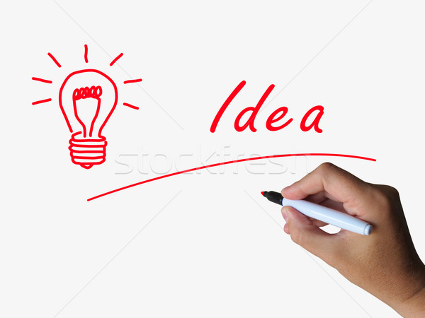 Idea and Lightbulb Indicate Bright Ideas and Concepts Stock photo © stuartmiles