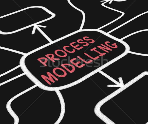 Process Modelling Diagram Shows Illustration Of Business Process Stock photo © stuartmiles