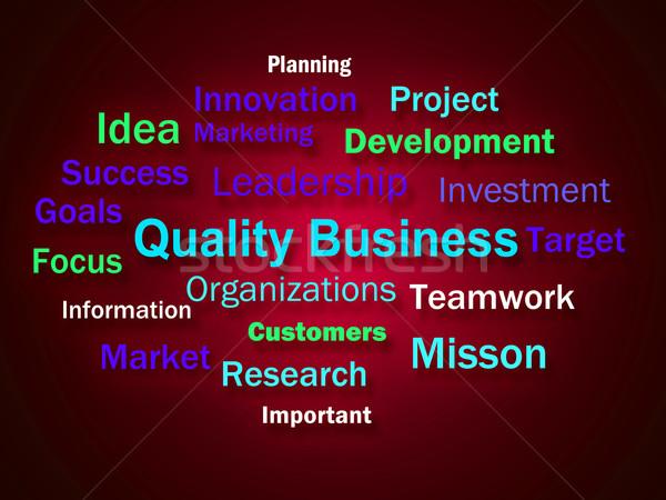 Qualità business brainstorming ottimo società significato Foto d'archivio © stuartmiles