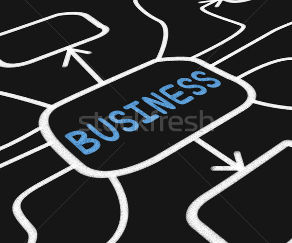 Business Diagram Means Company Venture Or Commerce Stock photo © stuartmiles