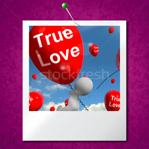 True Love Balloons Photo Represents Couples and Lovers Stock photo © stuartmiles