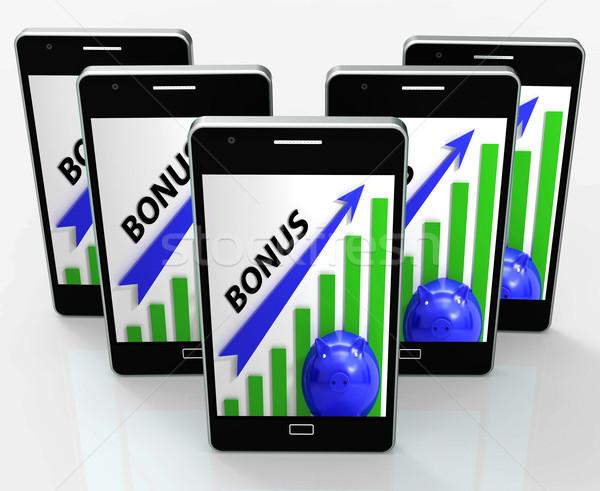 бонус графа телефон веб WWW Сток-фото © stuartmiles