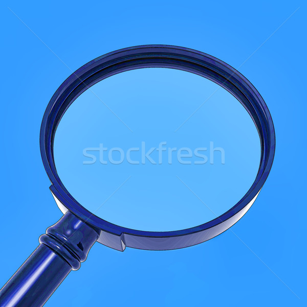 Magnifying Glass Shows Zoom Or Searching Stock photo © stuartmiles