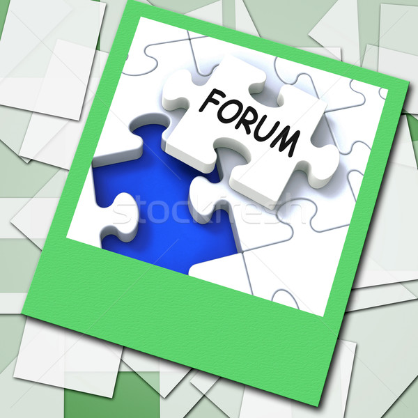 Forum Photo Means Online Networks And Chat Stock photo © stuartmiles